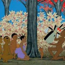 una colorata sequenza di Kirikù e gli animali selvaggi