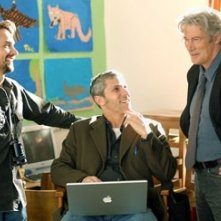 Scott McGehee e David Siegel con Richard Gere sul set di Parole d'amore
