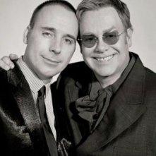 Elton John e suo marito David Furnish, il giorno del loro matrimonio