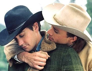 Jake Gyllenhaal ed Heath Ledger ne I segreti di Brokeback Mountain