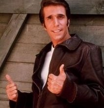 Henry Winkler in una scena di Happy Days