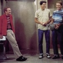 Ron Howard, Henry Winkler, Don Most ed Anson Williams in una scena di Happy Days