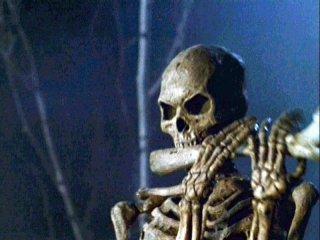 Uno scheletro nel film L'armata delle Tenebre