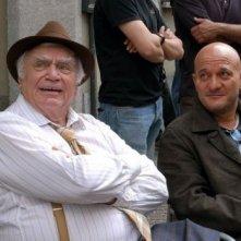 Ernest Borgnine e Claudio Bisio sul set de La cura del gorilla