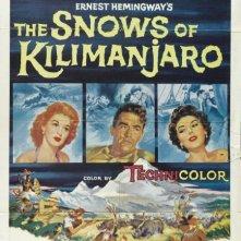 La locandina di Le nevi del Kilimangiaro