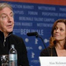 Alan Rickman e Sigourney Weaver a Berlino 2006 per presentare Snow Cake