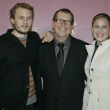 Heath Ledger, Neil Armfield e Abbie Cornish a Berlino 2006 per presentare Candy