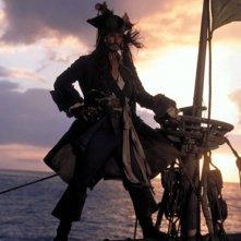 Johnny Depp è Jack Sparrow in Pirati dei Caraibi - La maledizione del forziere fantasma