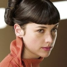 Amelia Warner in una scena del film Aeon Flux