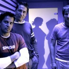 Jay Hernandez, Eythor Gudjonsson e Derek Richardson in Hostel