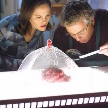 William L. Petersen e Jorja Fox in una scena di CSI