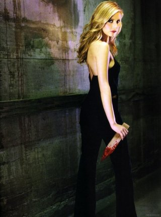 Sarah Michelle Gellar in un'immagine promozionale per Buffy - L'ammazzavampiri