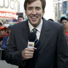 Nicolas Cage di fronte alle telecamere in The Weather Man