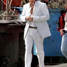 Colin Farrell sul set di Miami Vice