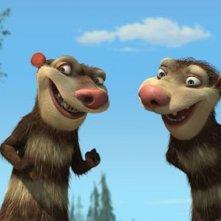Una scena del film d'animazione L'era glaciale 2