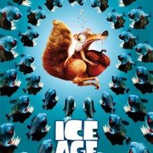 Uno splendido manifesto realizzato per L'era glaciale 2