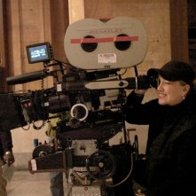 La regista Susan Stroman sul set di The Producers
