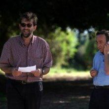 Moretti e Orlando sul set de Il caimano