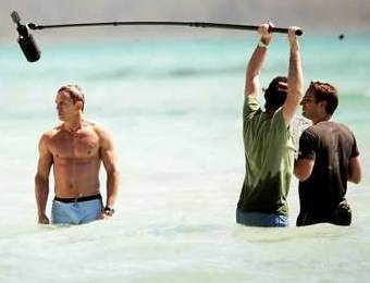 Daniel Craig sul set di Casino Royale