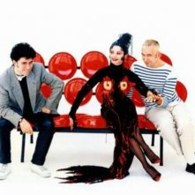 Pedro Almodovar e Jean-Paul Gaultier in una foto promozionale per Kika