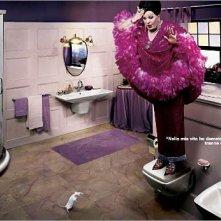 Moira Orfei in una simpatica pubblicità per Ideal Standard