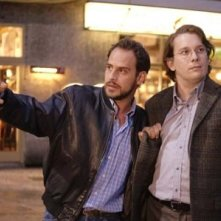 Moritz Bleibtreu e Christian Ulmen in una scena del film Le particelle elementari