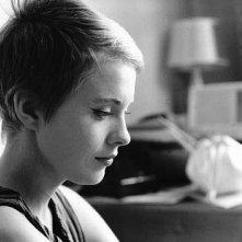 Jean Seberg sul set del film Fino all'ultimo respiro
