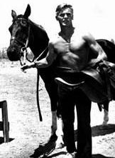 Tab Hunter con un cavallo
