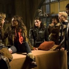 Adam Pascal, Rosario Dawson, Idina Menzel, Tracie Thoms, Anthony Rapp e Jesse L. Martin in Rent