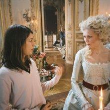 Sul set di Marie-Antoinette: Kirsten Dunst e Sofia Coppola