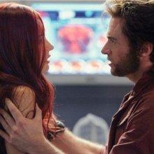 Famke Janssen e Hugh Jackman in una scena di X-Men: Conflitto Finale