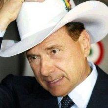 Cappello da cowboy per Silvio Berlusconi