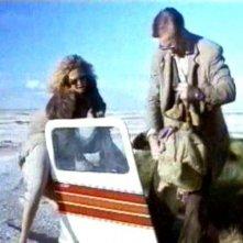 Solveig Dommartin e William Hurt in una scena del film di Wim Wenders, FINO ALLA FINE DEL MONDO
