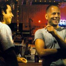 John Travolta e Bruce Willis in Pulp Fiction