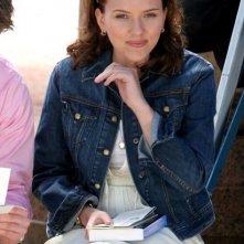 Scarlett Johansson sul set di The Nanny Diaries, nel 2007