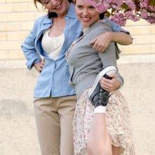 Scarlett Johansson sul set de Il diario di una tata