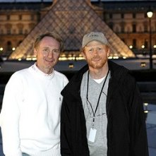 Dan Brown e Ron Howard sul set de Il codice Da Vinci