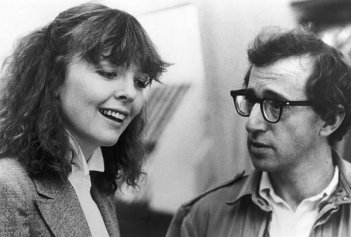 Diane Keaton con Woody Allen in Manhattan