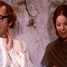 Woody Allen con Diane Keaton in una scena di AMORE E GUERRA