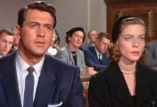 Rock Hudson e Lauren Bacall in Come le foglie al vento