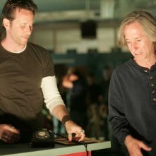 Steven Weber e Mick Garris sul set di 'Desperation'