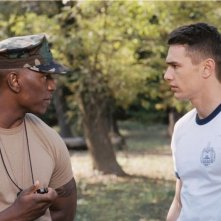 Tyrese Gibson e James Franco in una scena del film Annapolis