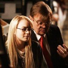 Lindsay Lohan e Garrison Keillor in una scena del film Radio America