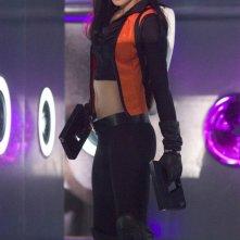 Scenari futuristici per Milla Jovovich in una scena di Ultraviolet