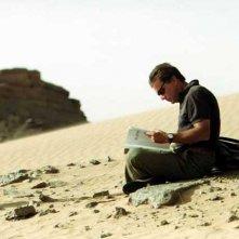 Enzo Monteleone sul set di El Alamein