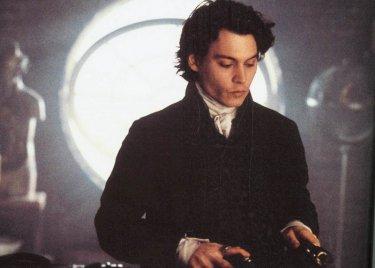 Johnny Depp ne Il mistero di Sleepy Hollow, diretto da Tim Burton