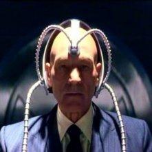 Patrick Stewart in una scena di X-MEN