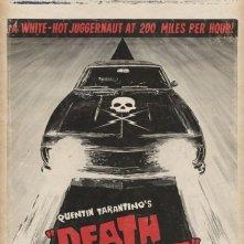 La locandina di Death Proof, il segmento di Grind House diretto da Quentin Tarantino
