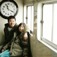 Sung Hyun-ah e Ha Jung-woo in una scena del film Time