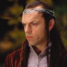 Hugo Weaving nei panni di Elrond ne 'La Compagnia dell'Anello'